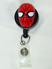 3D SPIDERMAN PLASTIC HEAD - ID Badge Reel rare Marvel HOLDER Superheroes comics