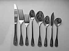 Vtg SHELL By Woodward & Lothrop STAINLESS Steel FLATWARE 100/Pcs Japan SVC/16