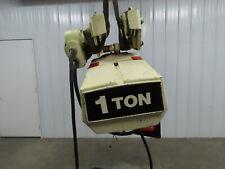 Coffing 1 Ton 2000lb Electric Chain Hoist 3ph 480v 10 Lift Travel Power Trolley