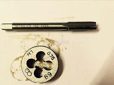 1pc HSS Machine M7 X 0.75mm Plug Tap and 1pc M7 X 0.75mm Die Threading Tool