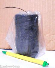 6-ply waxed LINEN lacing thread: rug braiding weaving twine Victor black 450ft