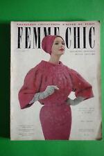 FEMME chic FASHION magazine PARIS Collection Hiver 1958 Winter Jacques Heim RARE