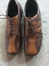 Ladies Brown Leather Clarks Shoes Size 4