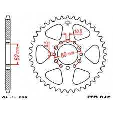 Couronne acier 40 dents sr250 1985-96 Jt sprockets JTR845.40