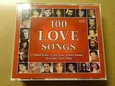 5-DISC CD BOX / 100 LOVE SONGS - LIONEL RICHIE, CELINE DION, DONNA SUMMER, ELTON