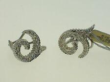 DORIS PANOS 18K WHITE GOLD 0.95CTW DIAMONDS EARRINGS - NEW - RETAIL $4,500.00!!!