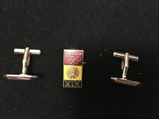 1968 MEXICO OLYMPIC PIN BADGE JAPANESE PINS CUFF LINKS