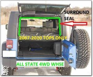 2007-2010 Jeep Wrangler Hardtop Lift Gate Glass Surround Weatherstrip 55395244AF