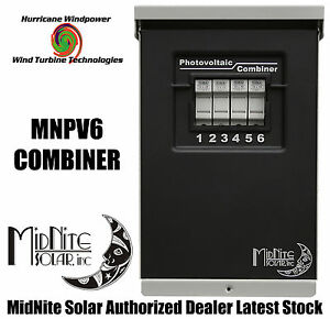 MIDNITE SOLAR MNPV6 PV COMBINER BOX FOR SOLAR PANEL WIND TURBINE WIND GENERATOR