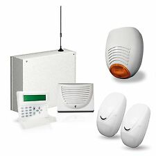 KIT ANTIFURTO ALLARME CASA COMBINATORE GSM CABLATO FILARE CELLULARE AMC