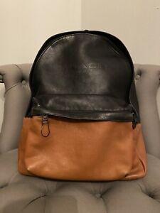 Coach Genuine Backpack Leather Brown Black Large Rucksack Laptop Bag