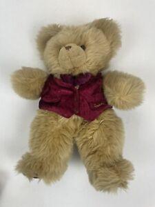 harrods bear red velvet waistcoat vest bow tie