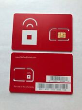 10X Red Pocket Sim Card Unlimited Talk , Text & Data On At&T Network