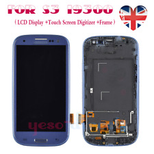For Samsung Galaxy S3 i9300 i9305 LCD Screen Digitizer Touch Display Frame Blue