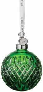 Waterford Crystal 2019 Emerald Ball Christmas Ornament # 40035473 New