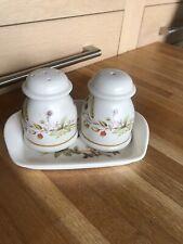 Vintage Marks & Spencer Harvest Salt & Pepper Pots with tray
