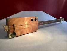 Cigar Box Guitar Davidoff 3 String Fretted Acoustic/Electric LISTEN BELOW