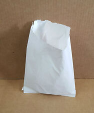 """1000 X WHITE PAPER BAGS SWEET FAVOUR BUFFET GIFT SHOP PARTY SWEETS 6"""" X 7.5"""""""