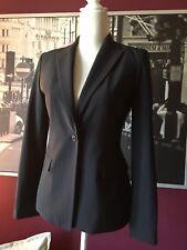 TAHARI Women's black fitted blazer slim 1 button front size S