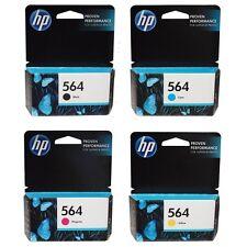HP 564 Genuine Ink Cartridges Set Black Cyan Magenta Yellow