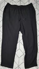 Lucky Brand Womens Loose Trousers Elastic Waistband Tassles Black size XL