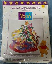 NIP Winnie The Pooh & Friends Tree Trimming Christmas Counted Cross Stitch Kit