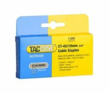 CT45 10mm GALVANISED CABLE TACKER STAPLES 1000 PER BOX, FITS MOST CABLE TACKERS