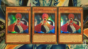 Yu-Gi-Oh! 3x D/D-Lamia SDPD-DE005 Deutsch! 1.Auflage BOOSTERFRISCH! SUPER Rare!