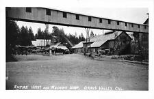 GRASS VALLEY, CA Empire Hoist & Machine Shop EMPIRE MINE Postcard ca 1930s RPPC