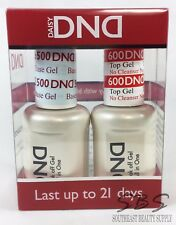 DND DAISY GEL Non-Cleansing Top Coat & Base Coat Set - NEW - gel nail polish