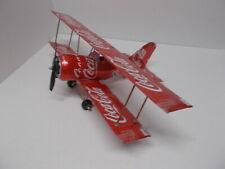 Aluminum soda can handcrafted airplane/COKE/BI-PLANE