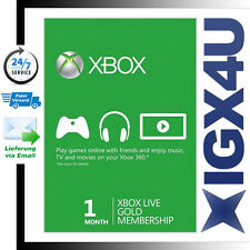 Xbox One XBOX 360 LIVE GOLD 1 Month Card Code/XBOX 1 Monate Mitgliedschaft Karte