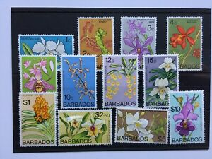 1974 BARBADOS - ORCHIDS - PART SET WITH TOP VALUES - MNH