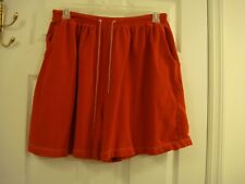 Women's Jaclyn Smith Sport Red Jersey Cotton/Spandex Elastic Waist Shorts Size X