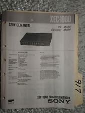 Sony xec-1000 service manual original repair book stereo crossover network