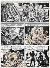 BOB LEGUAY METAMORPHOSE PLANCHE ORIGINALE TIM L'AUDACE ANNEES 1950 PAGE 11