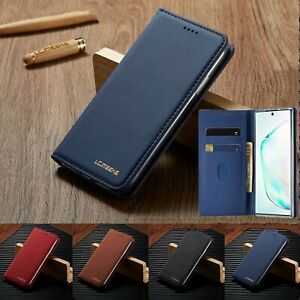 Cell Phone Case Wallet Flip Stand Solid Mobile Cover Card Holder Accessories Hot