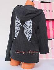 VS VICTORIA'S SECRET ~Angel Wings Sequins Bling Logo Zip-Up Hoodie Jacket ~ XS