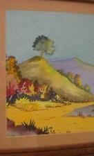 Vintage California Watercolor Original Realism Watercolor Painting by Artist