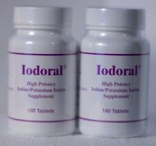 Iodoral 12.5 mg Tablet #180 TWO BOTTLES potassium iodide iodine Optimox