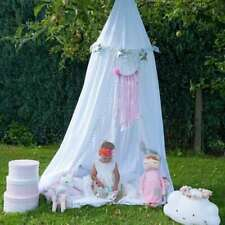 2.4M Bed Canopy Cotton Pompom Kid Play Tent Hanging Net Room Decor AU Stock