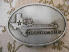 Texas Terminals LP 4 1 /2 x 3 Metal Belt Buckle 2nd annual Breakbulk Bash 2014
