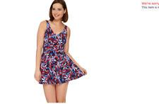Denim & Co. Beach Ruched Flounce Swim Dress. 16