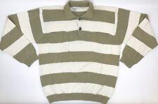 Georgio Armani Mens Sweater Size S Button Front Collared Striped