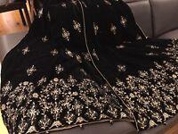 Brand New Designer  Embroidered Velvet Shawl/ Scarf in Black Special Offer