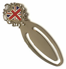 Love Heart Shaped Union Jack Flag Enamel Crested Bookmark & Gift Bag (T144)
