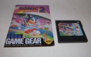 Sonic the Hedgehog 2 (Sega Game Gear, 1992) Game w/ Instruction Manual Booklet