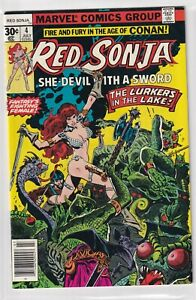 RED SONJA #4 SHE DEVIL WITH A SWORD THE LURKERS IN THE LAKE! MARVEL 1977