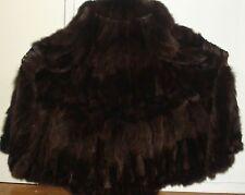 "NEW 50"" Long Brown Fox 105"" Swing Fur Coat Size 16-18 Free Shipping"
