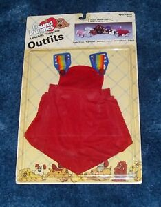 Vintage 1985 TONKA Pound Puppies Overalls Outfit ~ NEW in Package